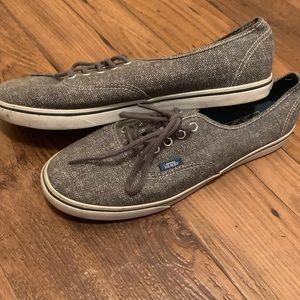 Vans skateboarding shoes.